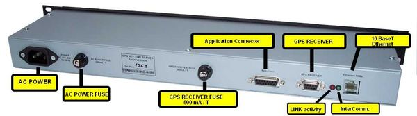 Back Panel Picture - Rack GPS NTP Time Server